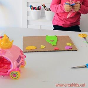 CreaKids: estampación con cartón y goma EVA