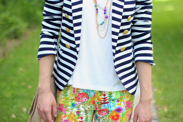 Stripes and Floral (Featuring J. Crew Liberty Toothpick Jean in Tresco Floral)