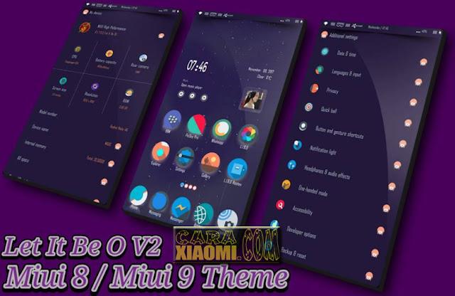 MIUI Theme Let It Be O V2 Mtz For Xiaomi Support [V8 Theme] [V9 Theme]