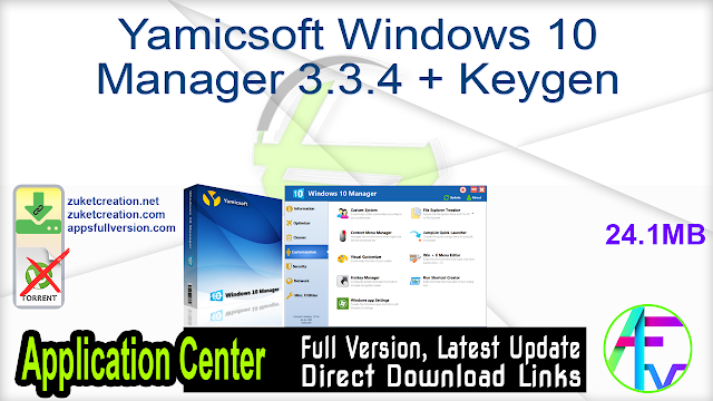 Yamicsoft Windows 10 Manager 3.3.4 + Keygen
