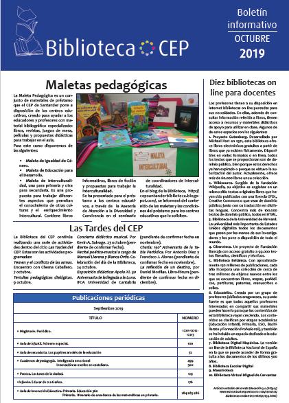 Boletín biblioteca octubre