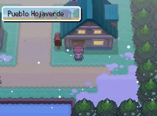 Pokemon Renegade Platinum en Español para NDS Pueblo Hojaverde
