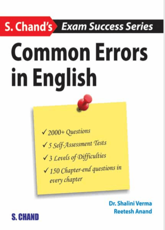 Common-Errors-in-English-by-S.-Chand-For-All-Competitive-Exam-PDF-Book