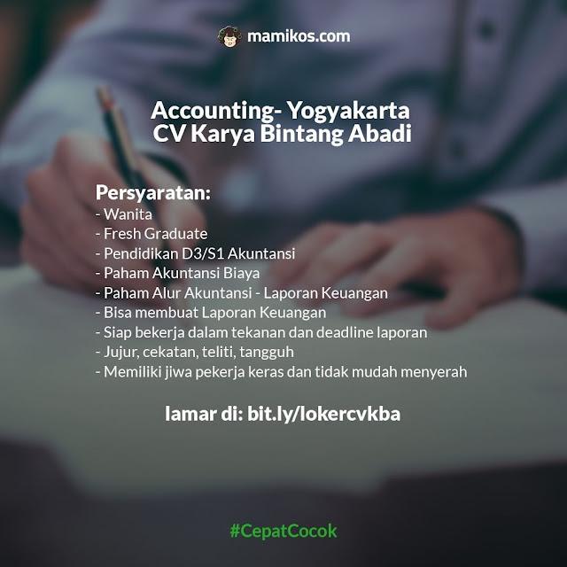 Lowongan Full Time Bulan Agustus Accounting