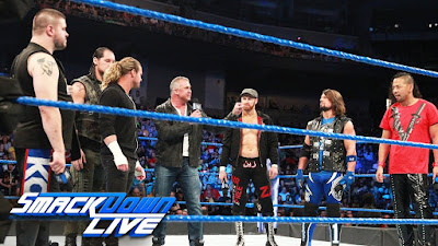 SmackDown Live MITB Money in the Match AJ Styles Shane McMahon Rusev