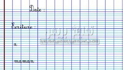Cahier d'écriture pour la 3ème année du primaire دفتر الكتابة الخاص باللغة الفرنسية