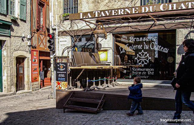 Place Maclou, na cidadela medieval de Carcassonne