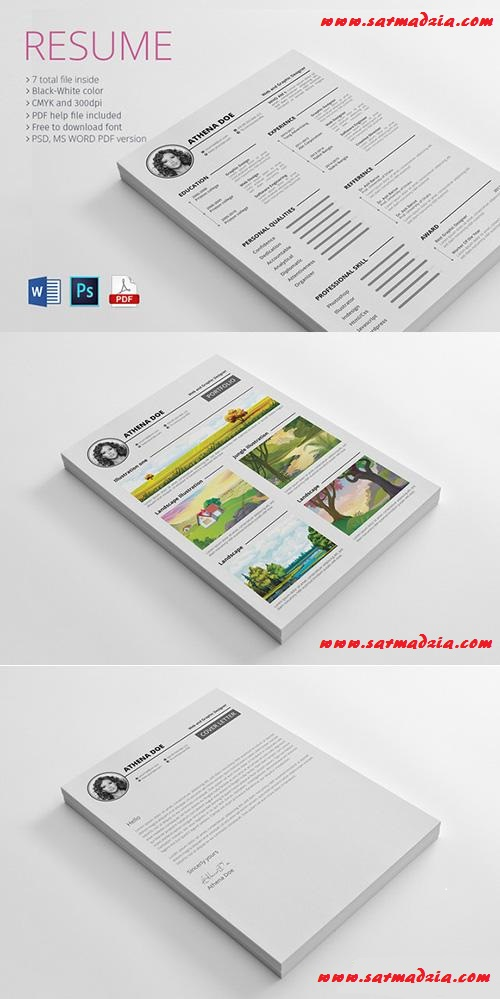 best resume ms word and psd file free download sarmad zia