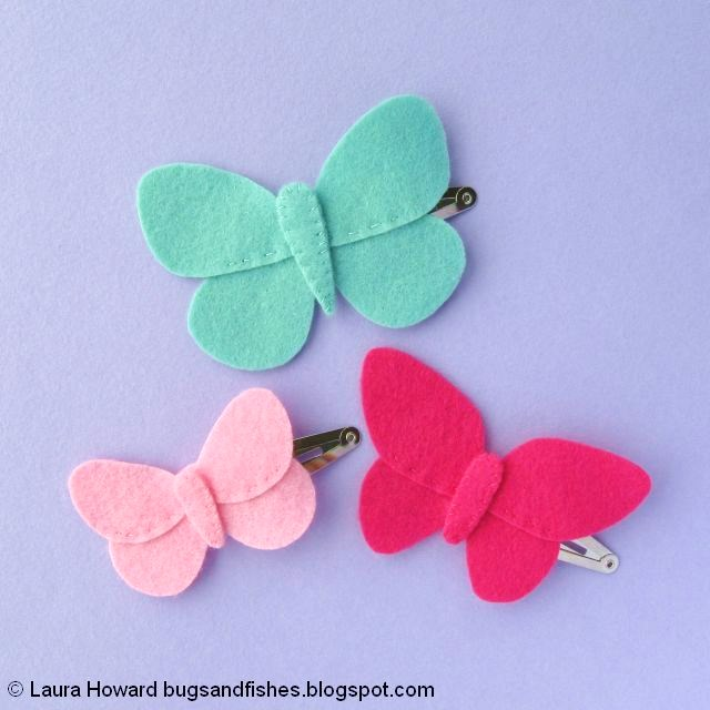 Felt Butterfly Hair Clips