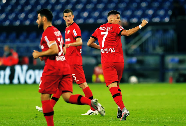 Paulinho celebra el gol del empate