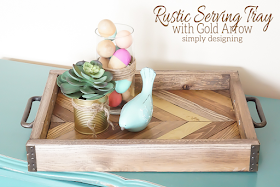 DIY rustic wood serving tray
