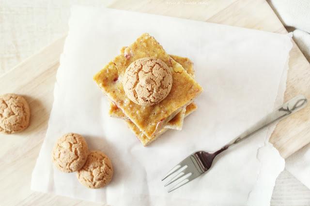 cheesecake ricotta amaretti e lamponi