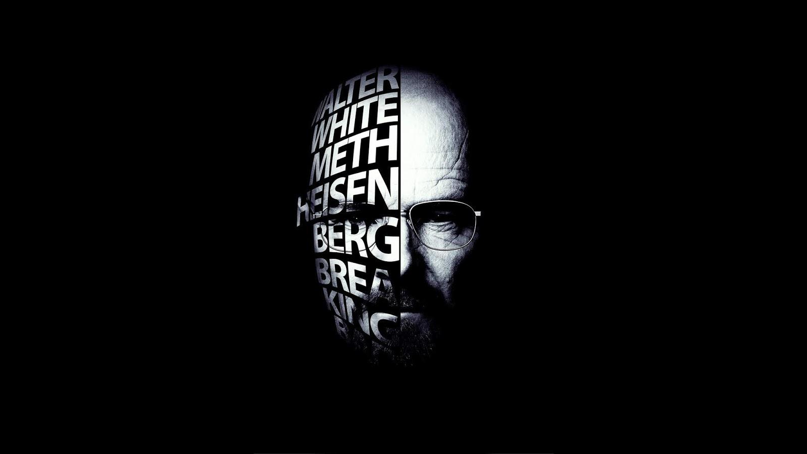 Breaking Bad, Bryan Cranston, Walter White, Heisenberg, 4K, Typography