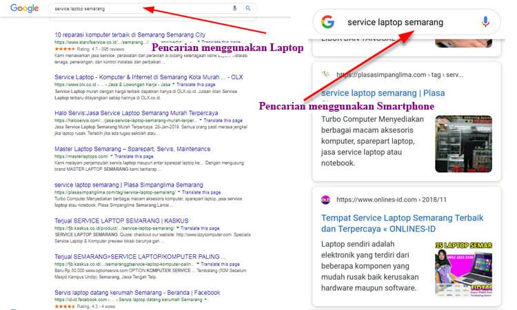 pencarian laptop vs smartphone