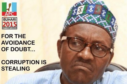 buhari stealing corruption
