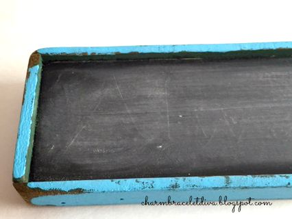 Painted DIY chalkboard sign