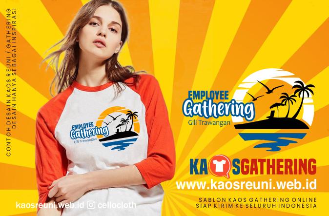 Gili Trawangan Family Gathering  - Kaos Family Gathering - Kaos Employe Gathering