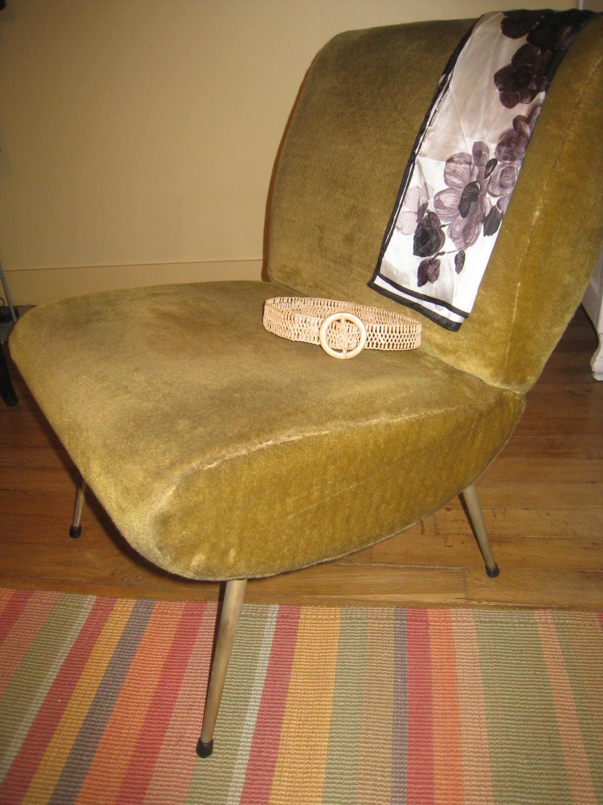 Pe Fauteuil Vintage Annees 50 60