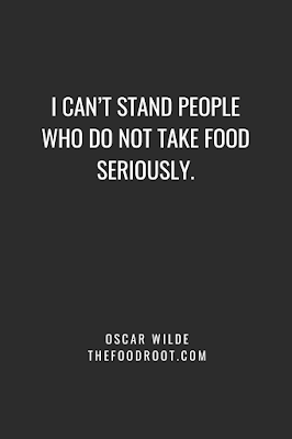 I can't stand people who do not take food seriously.