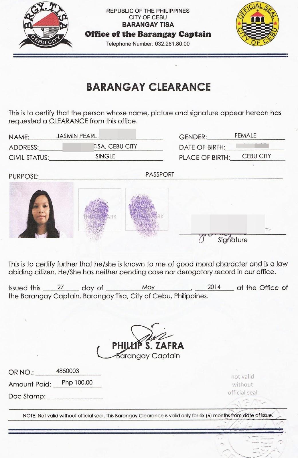 About NBI, police & barangay clearances