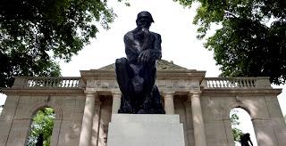 Rodin Museum in Paris, France: Thinker Statue by François-Auguste-René Rodin (1840-1917)