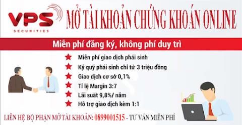 VPS Hà Nội Mở tài khoản chứng khoán Online tại Hà Nội, VPS, SSI, Vndirect, HSC, TCBS