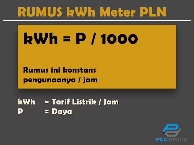 Rumus kWh Meter