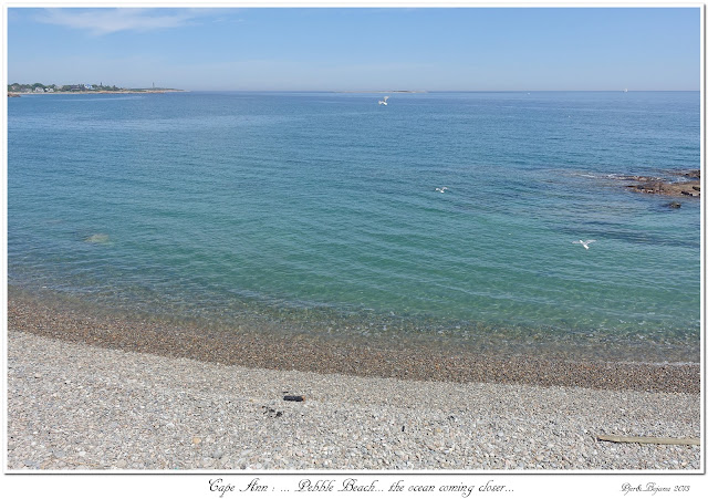 Cape Ann: ... Pebble Beach... the ocean coming closer...
