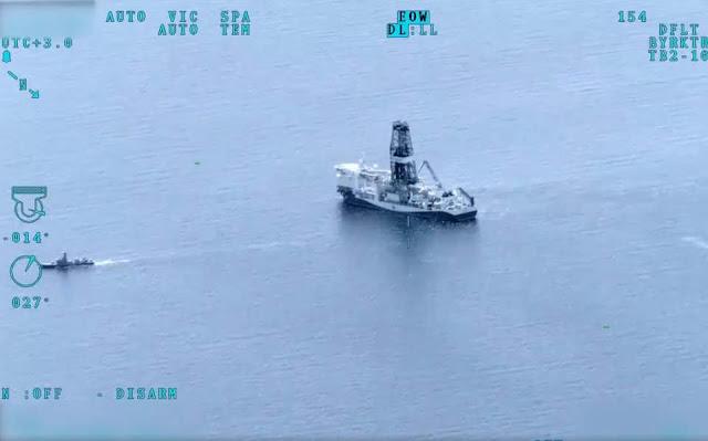 Το τουρκικό Πολεμικό Ναυτικό «συνοδεύει» τα γεωτρύπανα στην Ανατολική Μεσόγειο