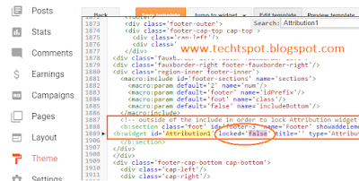 How To Remove Powered By Blogger Attribution 5