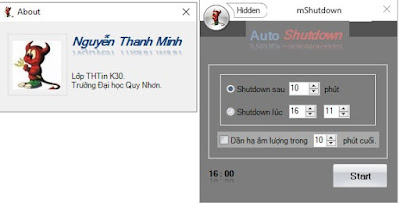 Phần mềm hẹn giờ tắt máy tính mShutdown 1.0, Auto Shutdown 1.0 mới nhất
