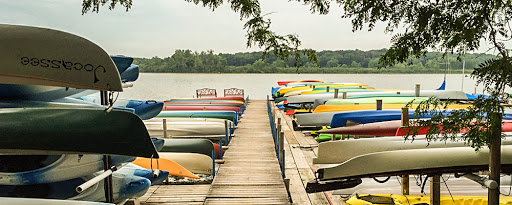 boats at dock at wingra lake rentals in madison wi