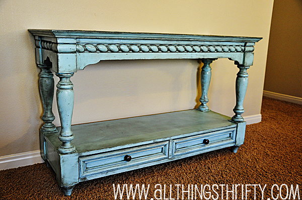 And My Turquoise Sofa Table