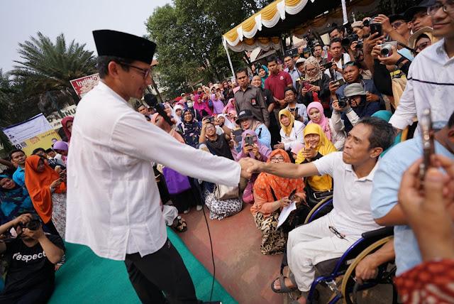 Sandiaga Siap Perjuangkan Lapangan Kerja Penyandang Disabilitas