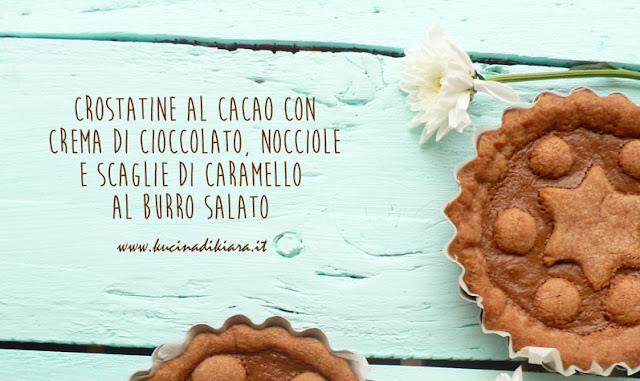 Crostatine al cacao farcite con crema di cioccolato