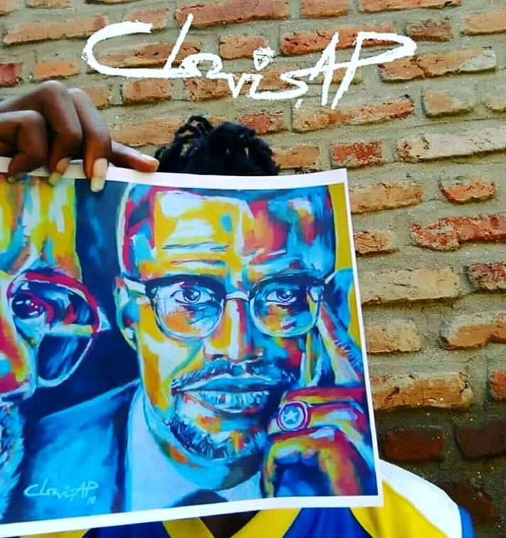 Clovis AP Malcolm X El Hadj Malik Shabbaz Art Print For Home Decor And Interior Design - King Clovis AP The Artist