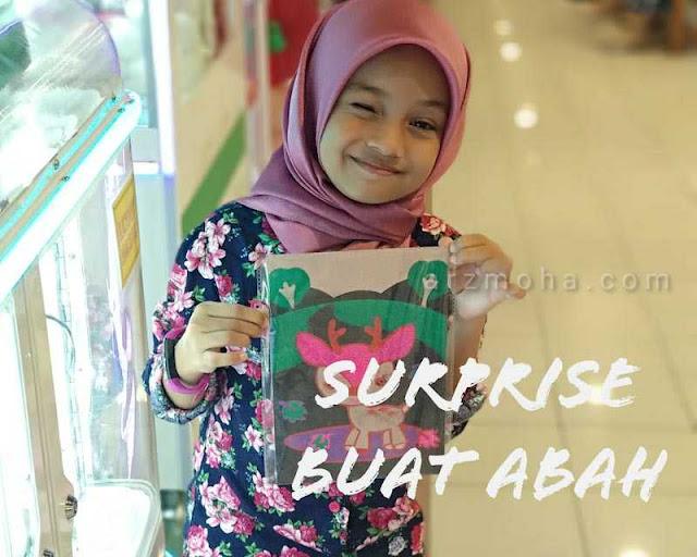 cik puteri, kids no 1 malaysia, tips surprise abah, cara surprise birthday abah, sambut harijadi abah,