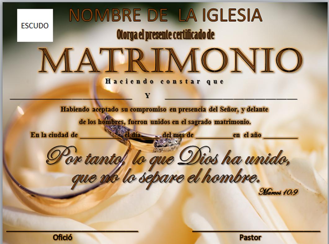 Matrimonio Catolico Y Evangelico : Iglesia mar abierto certificados de matrimonio para