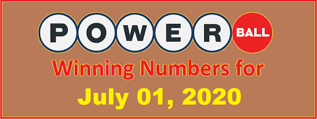 PowerBall Winning Numbers for Wednesday, July 01, 2020