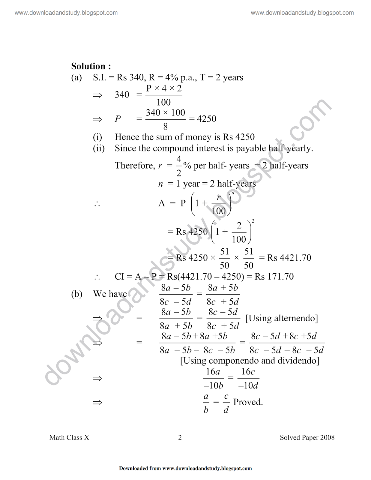 Download Amp Study Icse Mathematics Past Year Paper