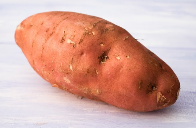 a large sweet potato