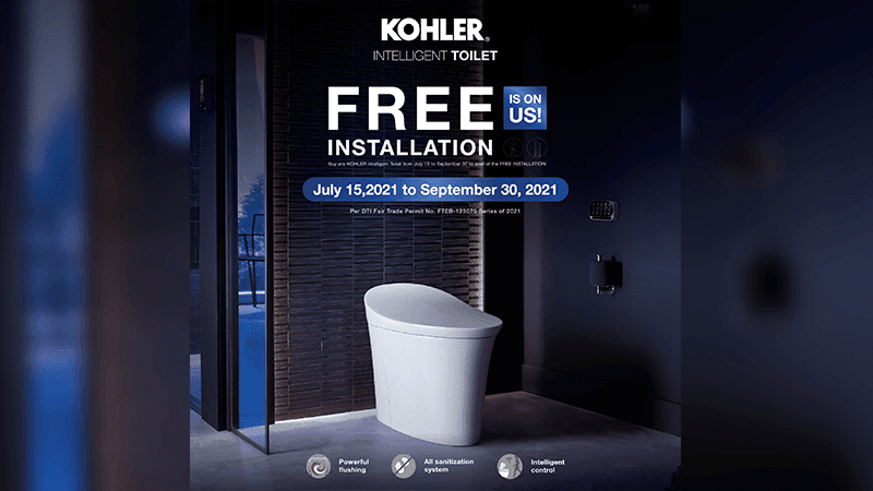 Sanitec Import Ventures announces FREE installation promo for Kohler Intelligent Toilets
