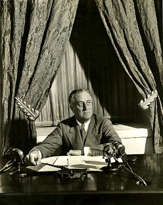 Franklin D. Roosevelt FDR first fireside chat
