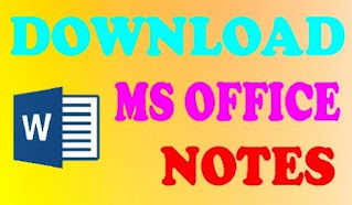 Download Ms Office Notes in English