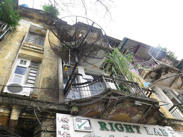 Fachada en Yangón