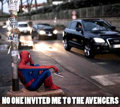 Sad spiderman
