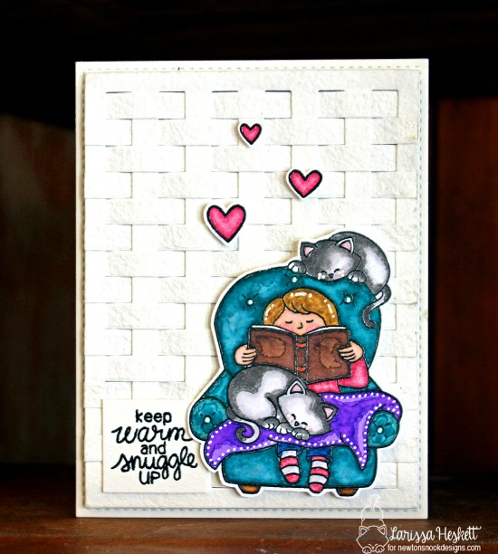 Keep Warm Card by Larissa Heskett | A Cozy Day In stamp set by  Newton's Nook Designs #newtonsnook