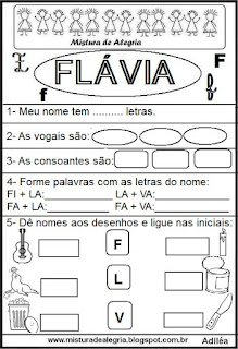 Brincando com o nome Flávia