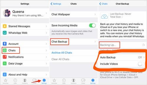 How to make a backup on WhatsApp