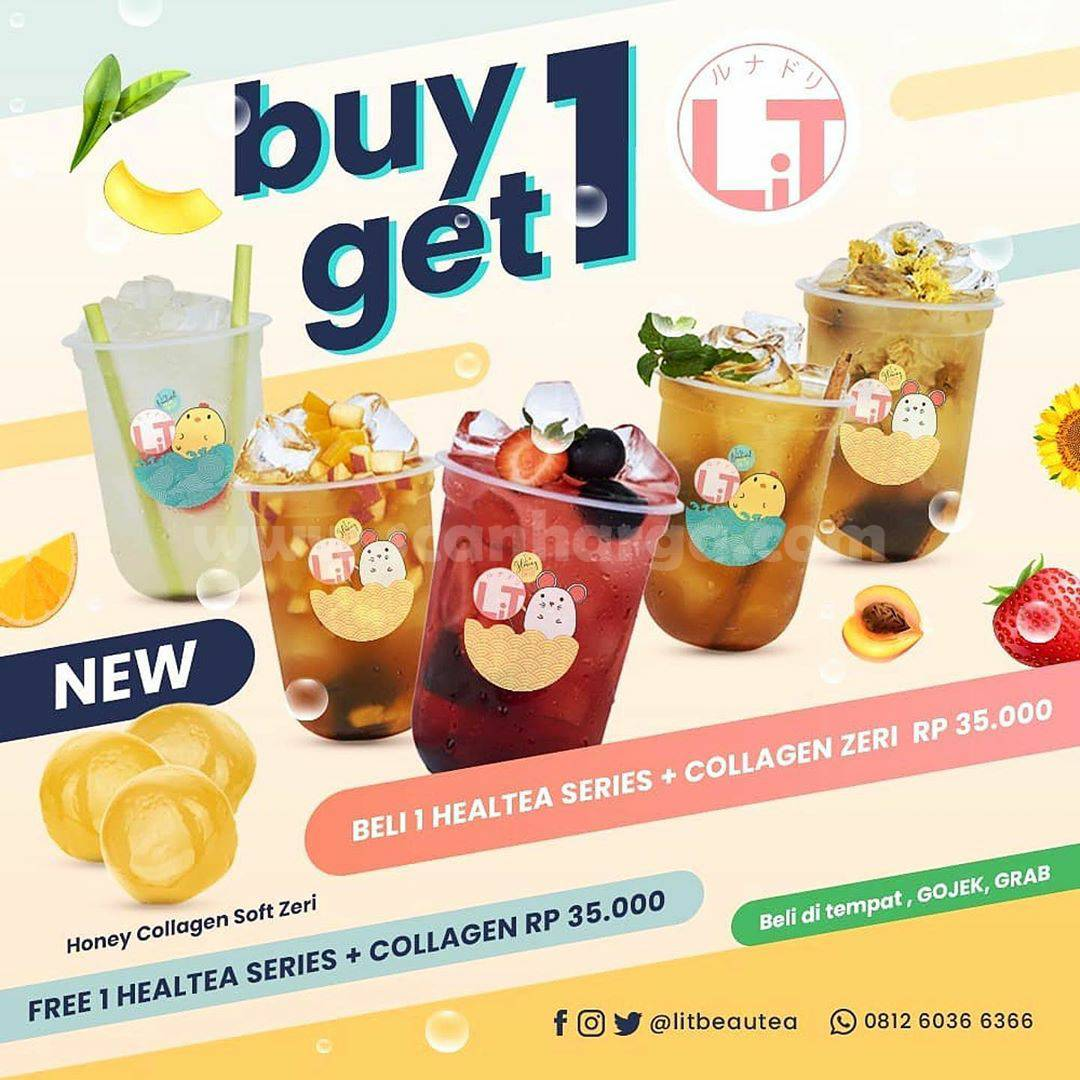 Promo Lit Beautea Buy 1 Get 1 Free [Beli 1 Healtea Series + Collagen Zeri] Cuma 35K